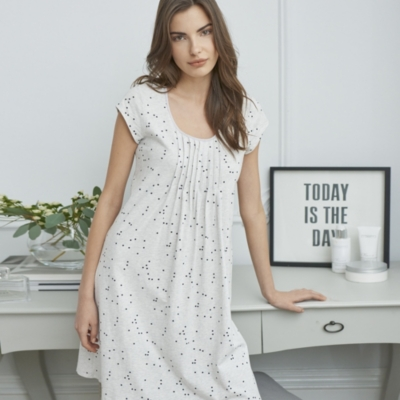 Pleat Yoke Jersey Nightdress