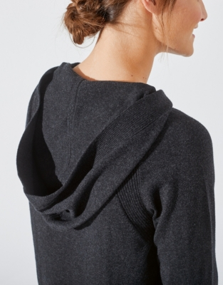 Cotton-Cashmere Ribbed Hoodie