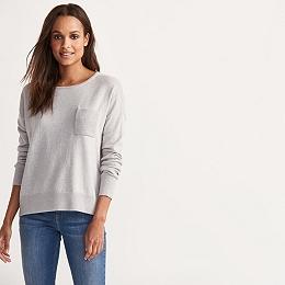 Ribbed Pocket Sweater