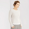 Ribbed Side Split Sweater - Natural