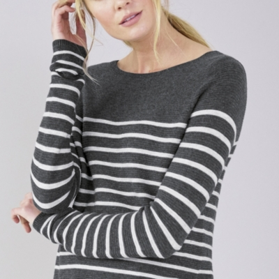 Horizontal Rib Breton Stripe Sweater