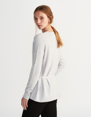 Ribbed Tie Back Sweater