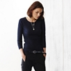 Rib Layering Top - Navy