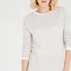 Boxy Rib Hem Sweater - Ecru