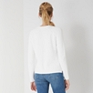 Ribbed Crew Neck Sweater - Porcelain