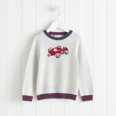 Racecar Motif Sweater (1-6yrs)