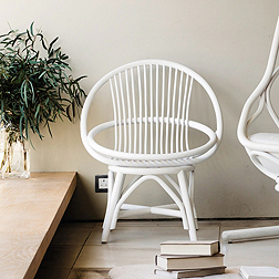 Radial Rattan Occasional Chair