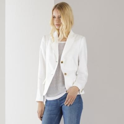 Relaxed Linen Blazer - White
