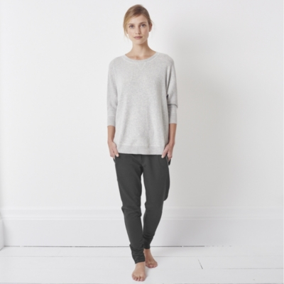 Ribbed Sweater - Pale Gray Marl