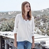 Relaxed Woven Silk Blouse - Winter White