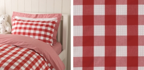 Gingham Bed Linen Collection - Red