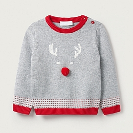 Jingles Reindeer Face Sweater