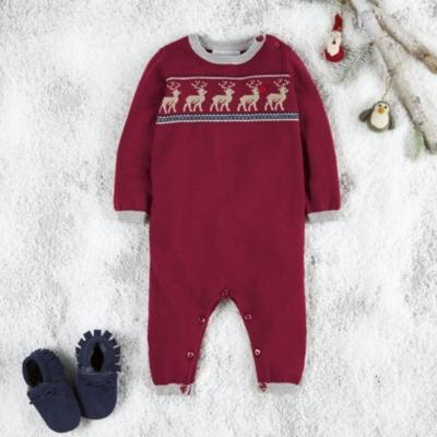 Reindeer Knitted Romper