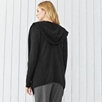 Rib Front Hooded Cardigan