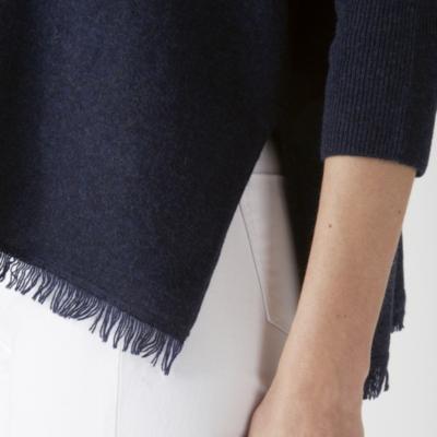Cashmere Blend Fringe Hem Sweater