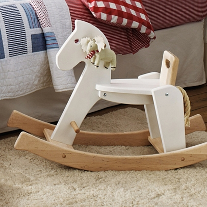 wooden rocking horse wooden toys the white company uk. Black Bedroom Furniture Sets. Home Design Ideas