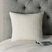 Cashmere Rib Square Cushion Cover - Alabaster