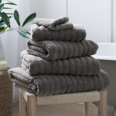 Rib Hydrocotton Towels - Slate