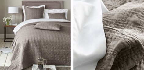 Richmond Quilt & Cushion Covers - Mink