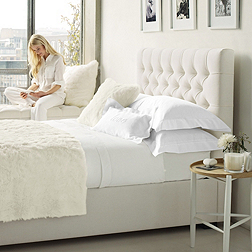 Richmond Bed - White & Pebble