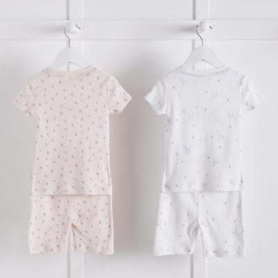 Fawn And Rosebud Print 2 Pack Pajamas Snug Fit