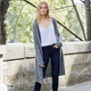 Ribbed Long Cardigan