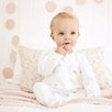 Rose Embroidered Sleepsuit - White