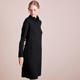 Roll-Neck Ponte Dress