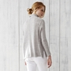 Roll Neck Side Panel Sweater - Pale Gray Marl