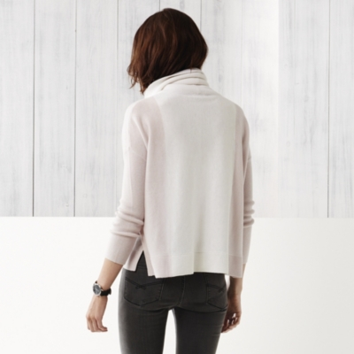 Roll Neck Color Block Sweater
