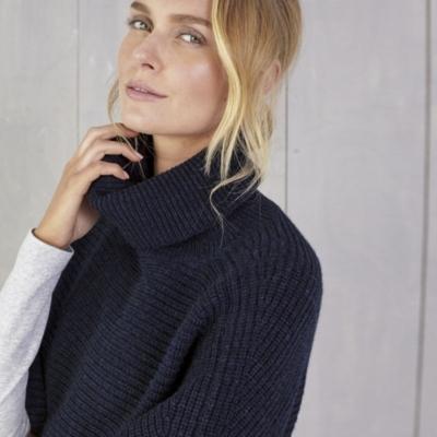 Roll Neck Rectangular Sweater