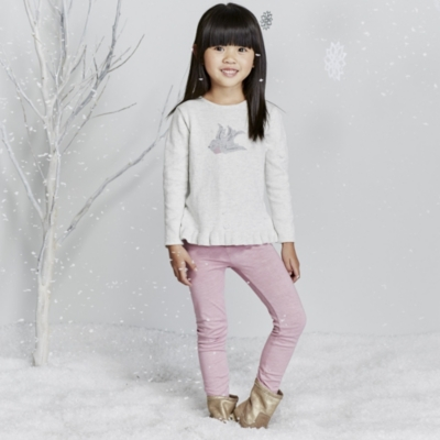 Robin Motif Sweater & Leggings Set