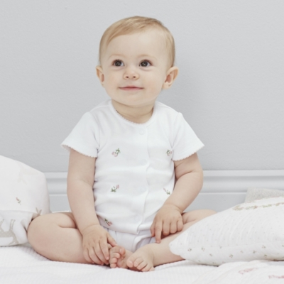 Rosebud Embroidered Shortie