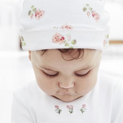 Rosebud Sleepsuit and Hat