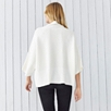 Rollneck Ribbed Wide Sweater - Porcelain
