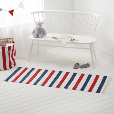 Red & Blue Stripe Runner