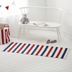 Red and Blue Stripe Runner