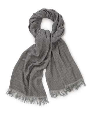 Modal-Wool Reverse Dot Scarf
