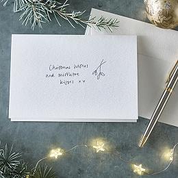 Mistletoe Kisses Christmas Card - Single