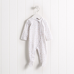 Baby Girls' Floral Wrap Sleepsuit