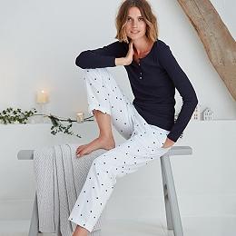Cotton Flannel Star Print Pyjama Bottoms