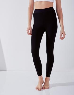Satin Elastic Waistband Leggings
