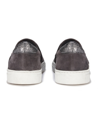 Suede Sparkle Slip-On Sneakers
