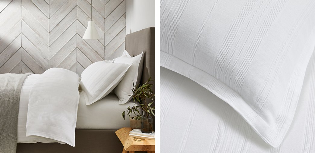 Salcombe Waffle Bed Linen Collection