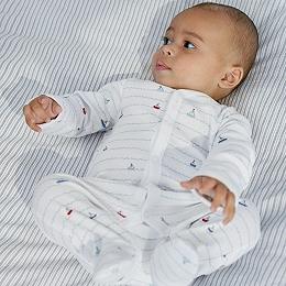 Sailboat Stripe Sleepsuit