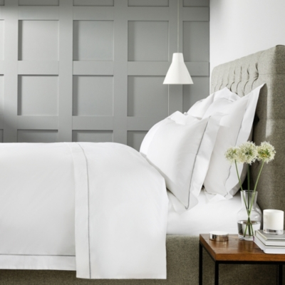 Luxury Savoy Bed Linen Collection - White Silver