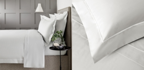 Savoy Bed Linen Collection - Grey White