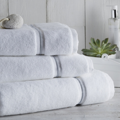 Savoy Towels - White Gray