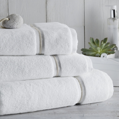 Savoy Towels - White Pebble