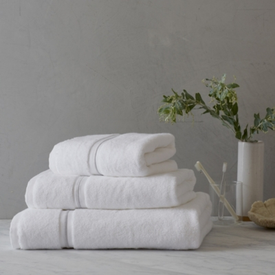 Savoy Towels - White Silver